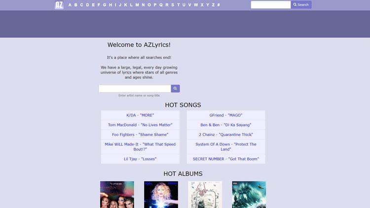 azlyrics.com