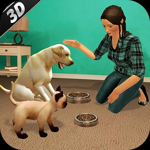 Virtual dog pet cat home