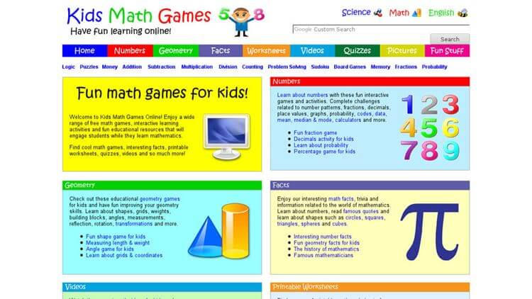 Kids Math Games Online