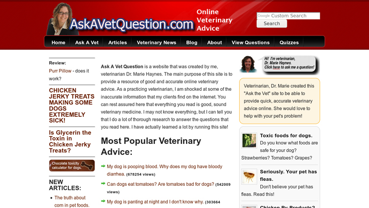 Ask a Vet Question