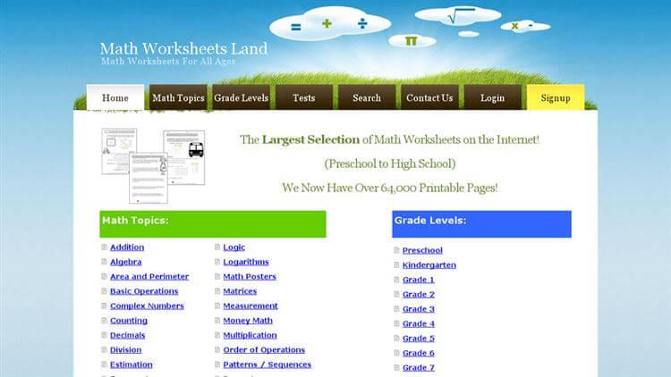 Math Worksheets Land