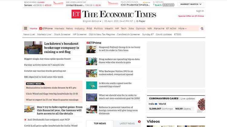 The Economic Times India Times