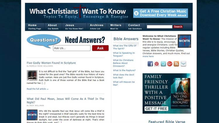 Christians Want To Know