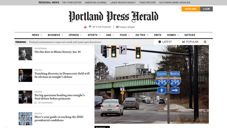 The Portland Press Herald