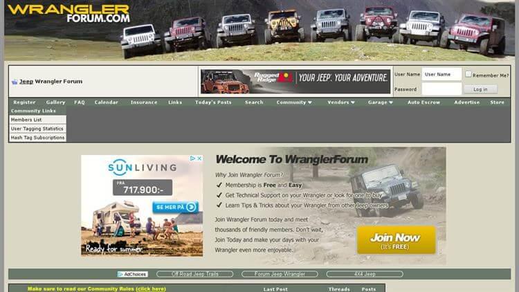 Wrangler Forum